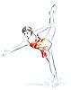 ID 3053737 | Damen Eiskunstlauf | Stock Vektorgrafik | CLIPARTO