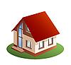 3D-Modell eines Einfamilienhauses