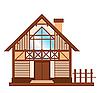 Modell des hölzernen Einfamilienhauses