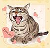 Valentine-Grußkarte mit Katze