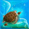 Schildkröten schwimmen im Meer | Stock Vektrografik