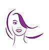 stilisierte Portrait der schönen jungen Frau