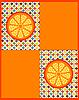 orangefarbener Hintergrund