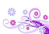 Blumen und Schnörkel