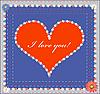 Valentinstag-Design mit Herz