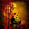 Panda im Bambuswald