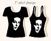 Vektor Cliparts: T-Shirt Design mit Mädchen Gesicht