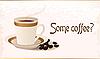 Vektor Cliparts: Tasse heißen Kaffee und Getreide