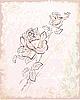 Vektor Cliparts: Vintage-Grußkarte mit Rosen