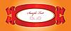 Vektor Cliparts: rote Bänder mit Etikett