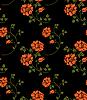 Nahtlose Blumen-Textur im Russischen Stil | Stock Vektrografik