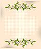 Vektor Cliparts: Blume über Halbton Hintergrund