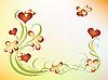 花的情人节设计 | 向量插图