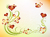 Valentinstag-Design mit Blumen | Stock Vektrografik