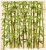 Vektor Cliparts: Beispiel für die Weinlese Bambuswald