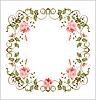 Archiwalne ramki z róż | Stock Vector Graphics