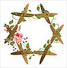 Vektor Cliparts: vintage floral frame