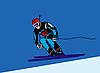 Vektor Cliparts: Skifahrer