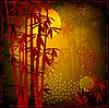 Vektor Cliparts: Bambuswald