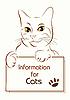 Vektor Cliparts: adorable Umriss Katze halten Banner