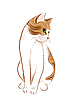 Vektor Cliparts: handgezeichneten Portrait von Ingwer tabby cat