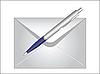 Vektor Cliparts: Umschlag und Stift