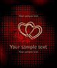 Herzen auf dem dunkelrotem | Stock Vektrografik