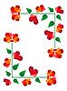 Blumenrahmen von Herzen | Stock Vektrografik