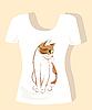 T-Shirt Design mit Ingwer Katze