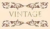 floraler Vintage-Rahmen
