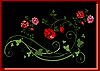 Vektor Cliparts: rote Blume