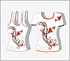 Vektor Cliparts: T-Shirt mit ornamentalem Design
