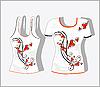Vektor Cliparts: T-Shirt mit ornamentalem Design