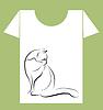 T-Shirt Design mit schwarzen Katze