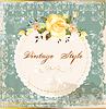 Shabby Vintage-Postkarte mit Rosen