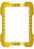Dekorativer goldener Rahmen | Stock Vektrografik