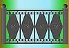 Zaun auf der Brücke | Stock Vektrografik
