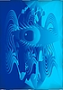 Blue eye abstrakcji | Stock Vector Graphics