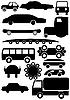 Silhouetten von Autos | Stock Vektrografik