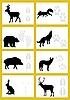 Vektor Cliparts: Spuren von Tieren