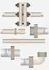 Векторный клипарт: Типы соединений труб
