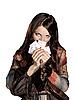 ID 3049764 | Frau mit Spielkarten | Foto mit hoher Auflösung | CLIPARTO