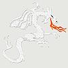 ID 3049773 | Weißer Drache | Illustration mit hoher Auflösung | CLIPARTO