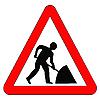 ID 3049775 | Предупреждающий знак дорожные ремонтные работы | Иллюстрация большого размера | CLIPARTO