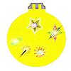 Желтый новогодний шар | Иллюстрация