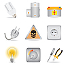 Electric power icons | Stock Vector Graphics