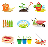 Ogród icons | Stock Vector Graphics