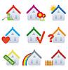 Häuser als Immobilien-Icons