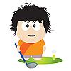 Golf player | Stock Vector Graphics