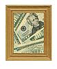 Drewniana rama i pieniądze | Stock Foto